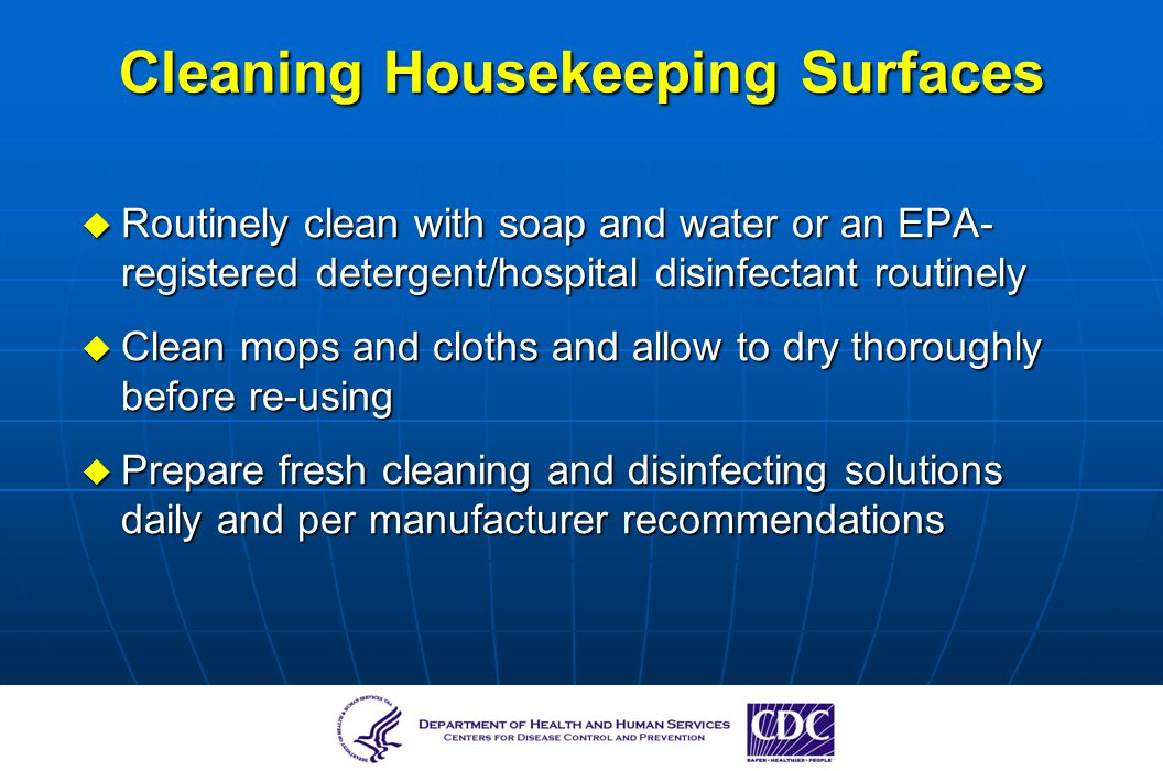 Cleaning Housekeeping Surfaces