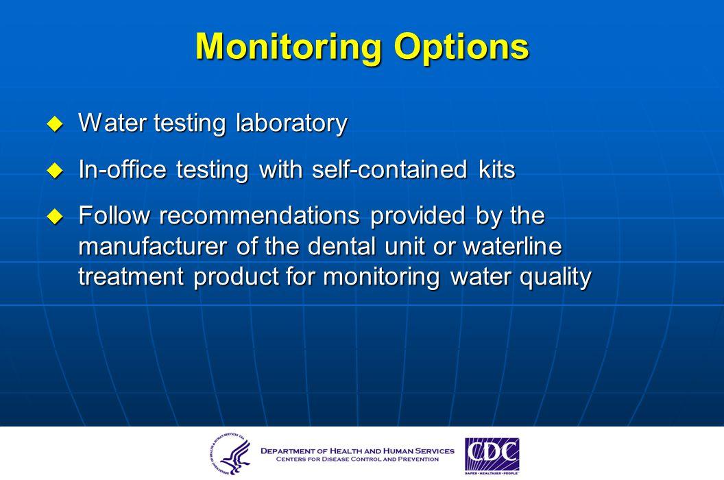 Monitoring Options Water testing laboratory
