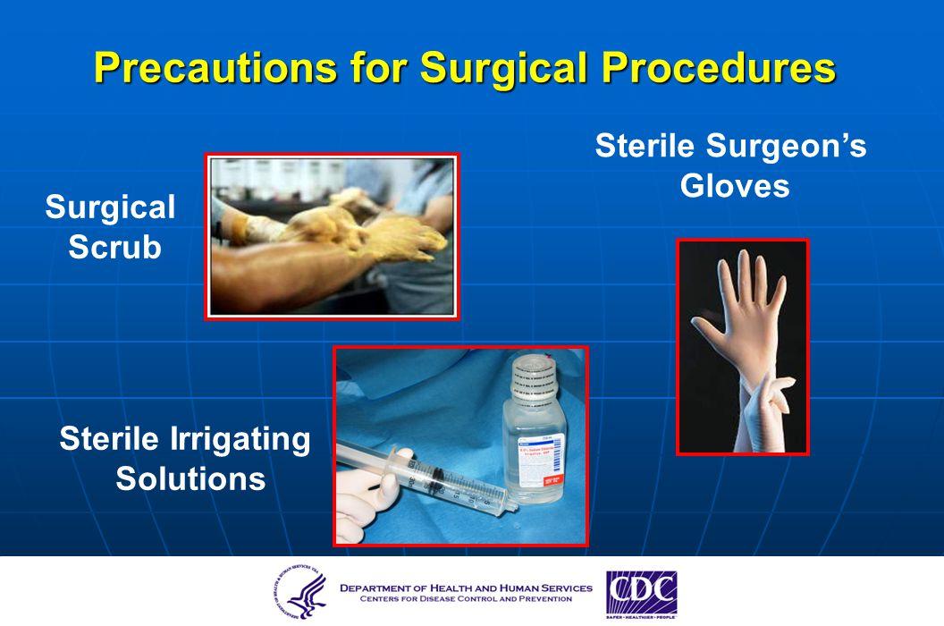 Precautions for Surgical Procedures