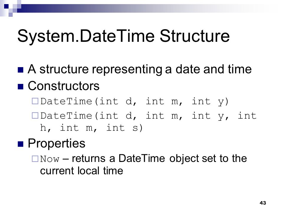 System.DateTime Structure