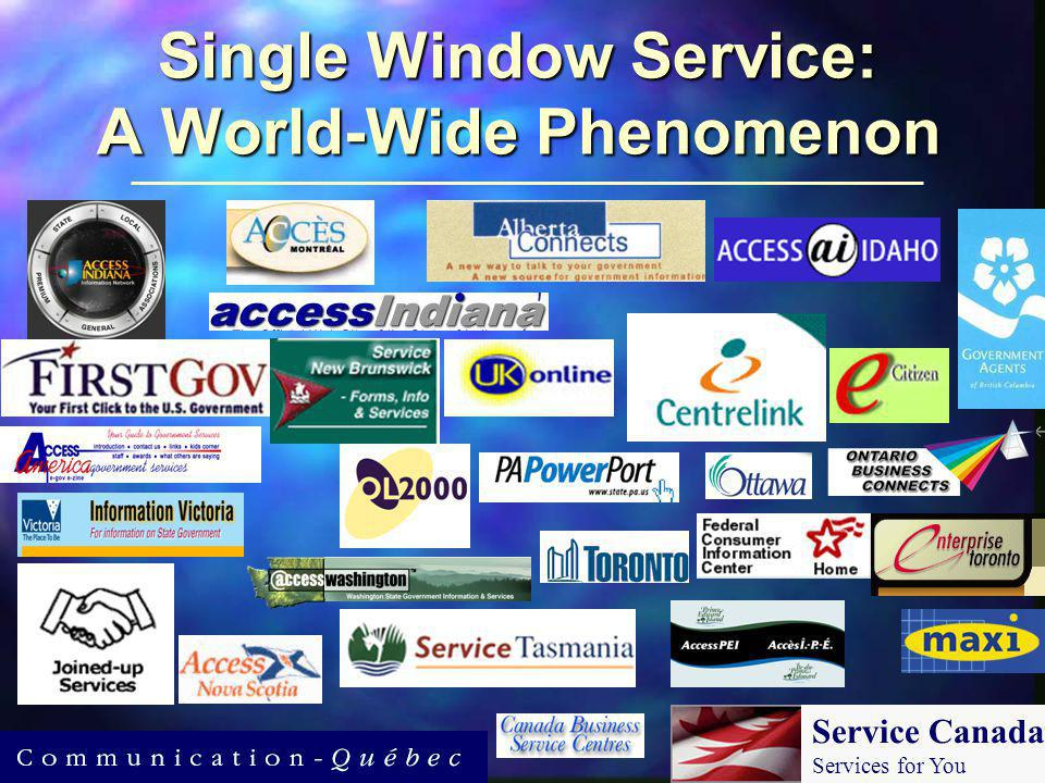Single Window Service: A World-Wide Phenomenon