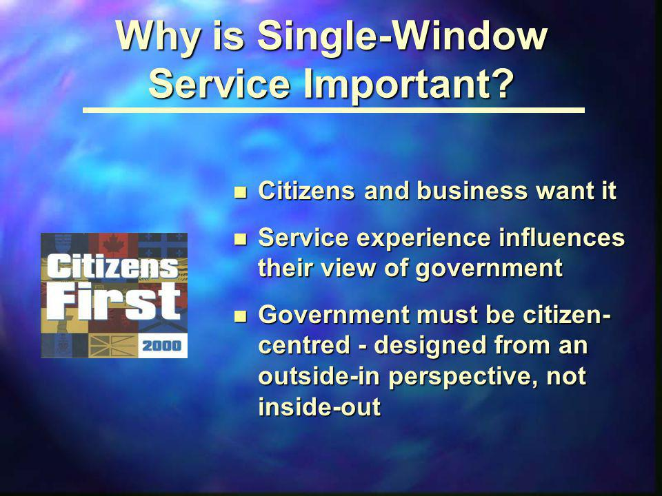 Why is Single-Window Service Important