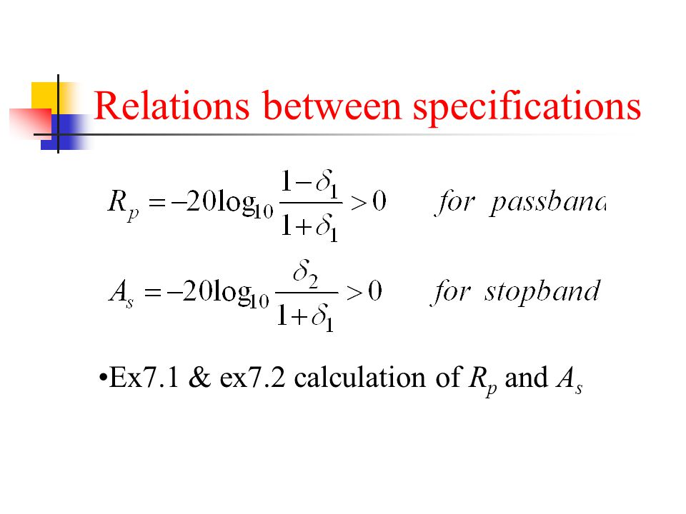 Relations between specifications