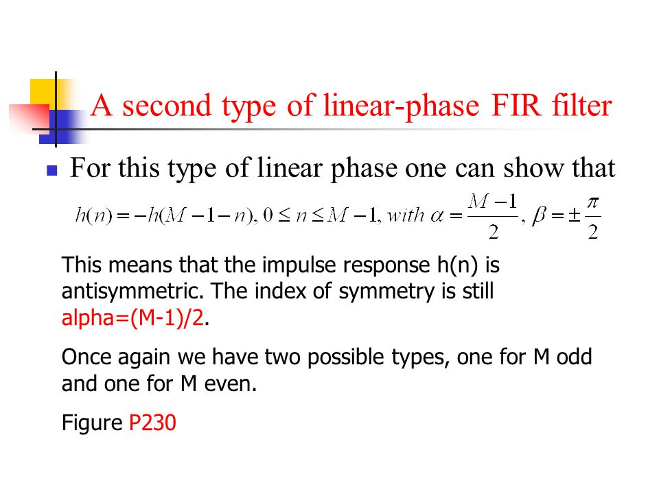 A second type of linear-phase FIR filter