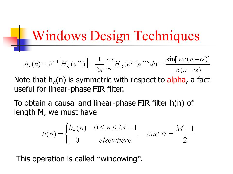 Windows Design Techniques