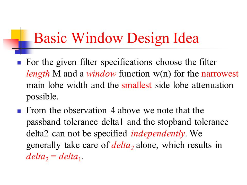 Basic Window Design Idea