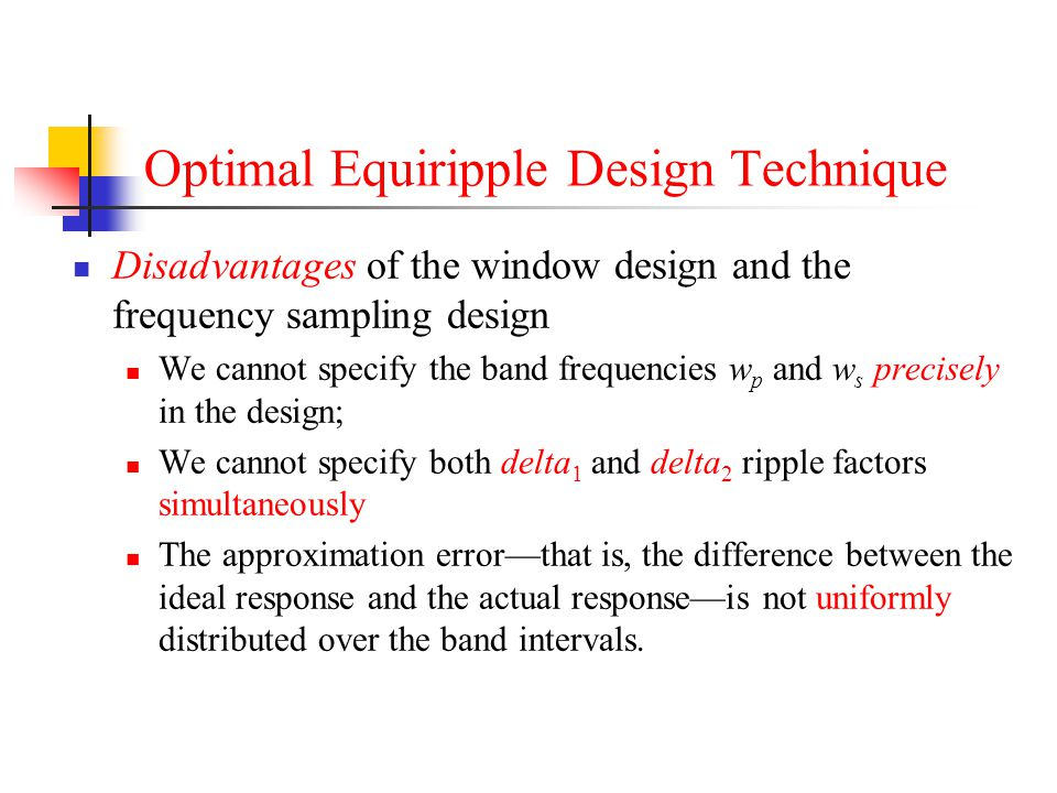 Optimal Equiripple Design Technique