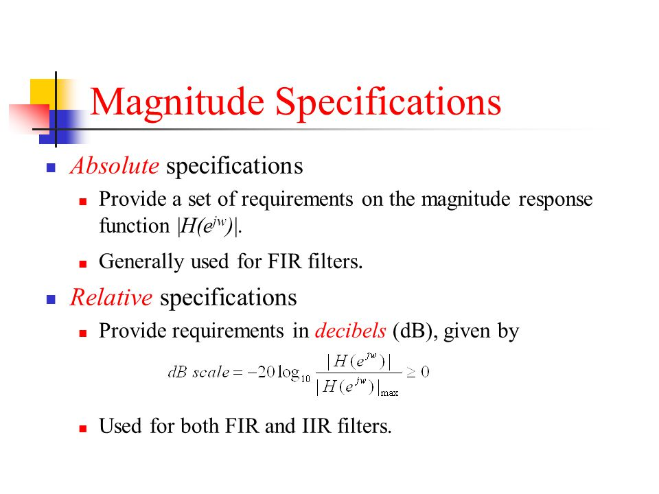 Magnitude Specifications