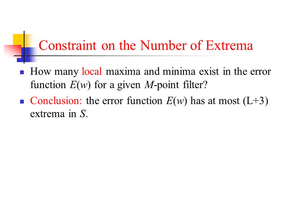 Constraint on the Number of Extrema