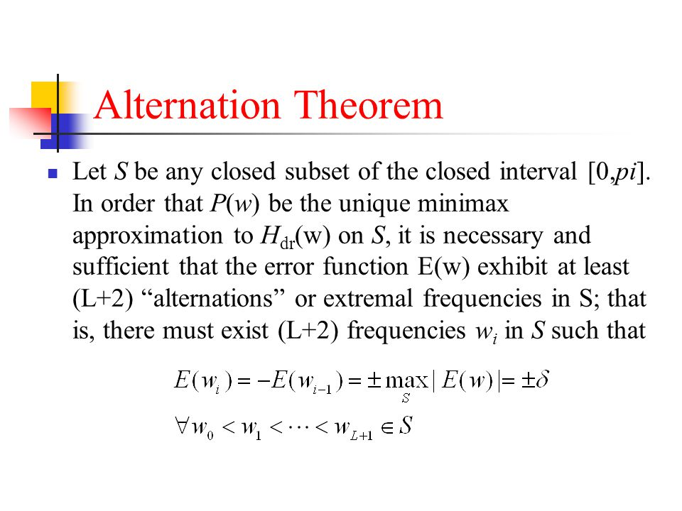 Alternation Theorem