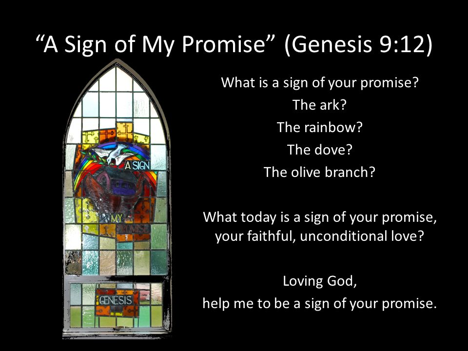 A Sign of My Promise (Genesis 9:12)
