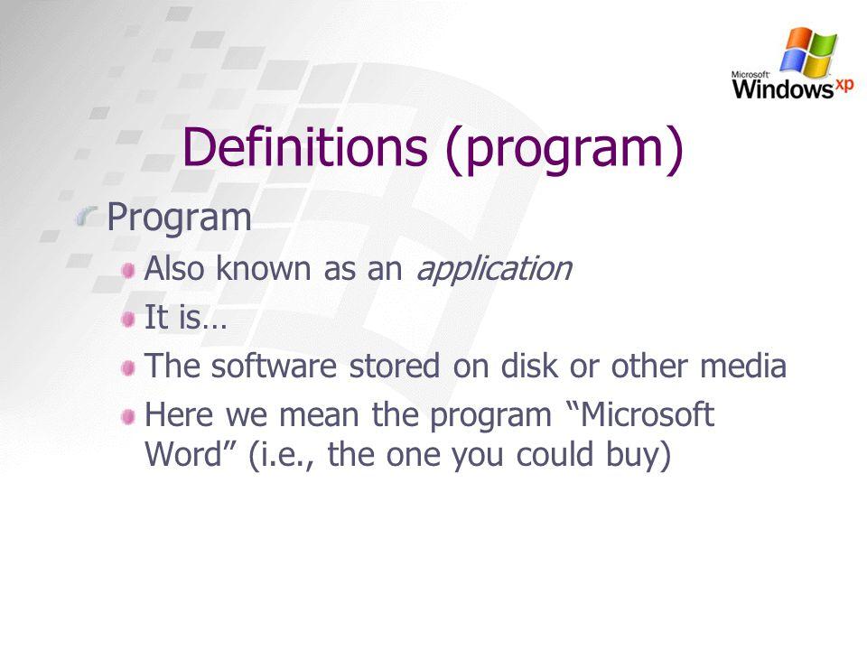 Definitions (program)