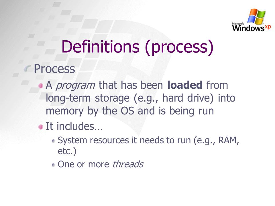 Definitions (process)