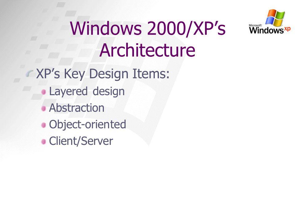 Windows 2000/XP's Architecture