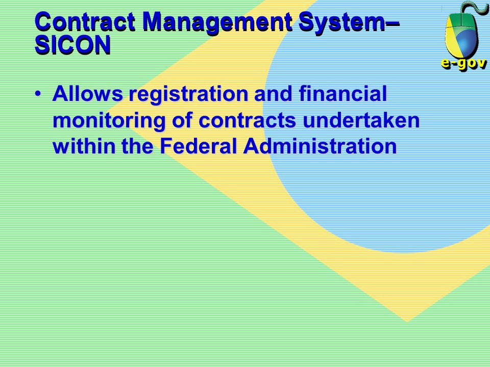 Contract Management System– SICON