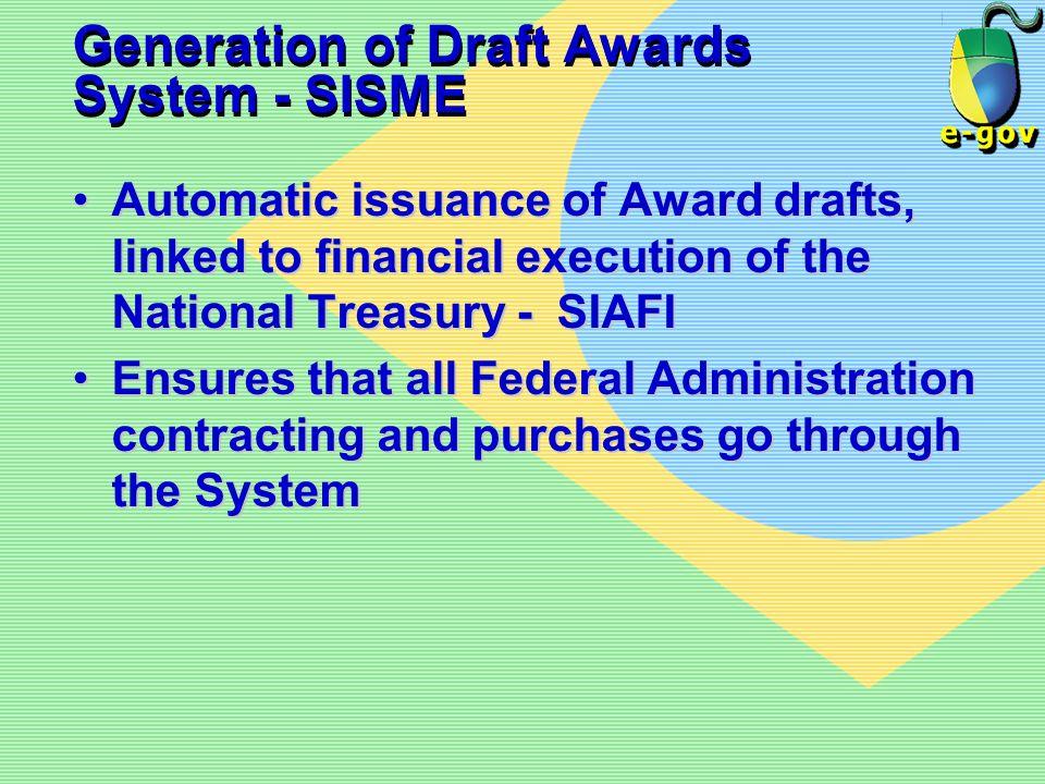 Generation of Draft Awards System - SISME