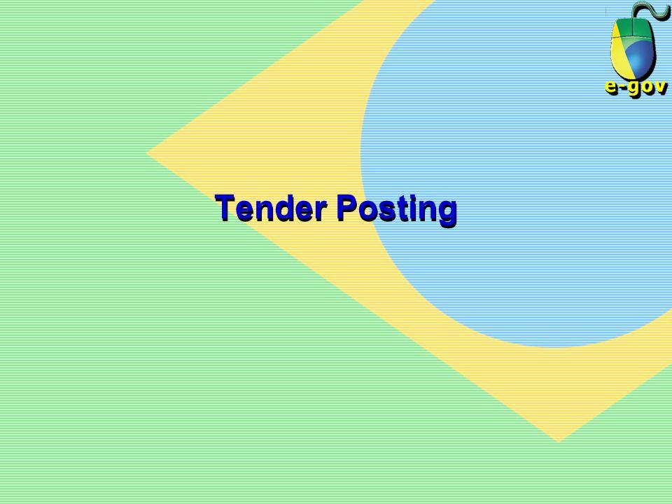 Tender Posting
