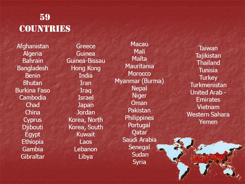 59 Countries
