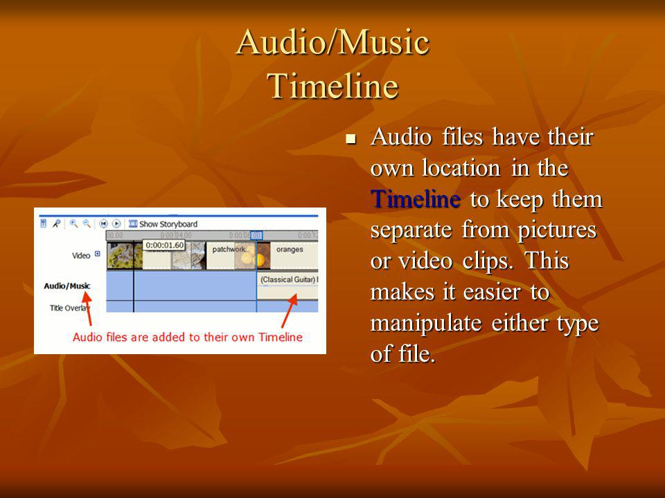 Audio/Music Timeline