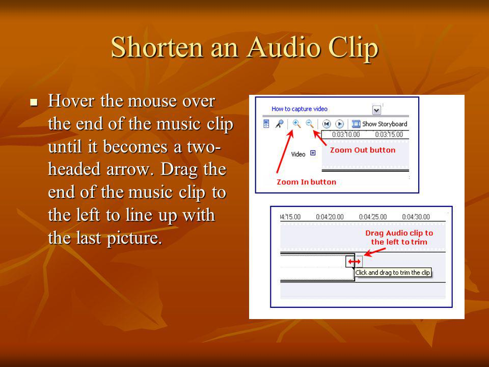 Shorten an Audio Clip