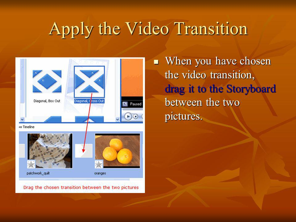 Apply the Video Transition