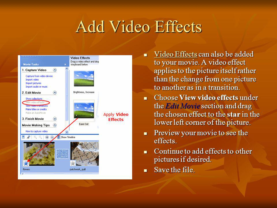 Add Video Effects