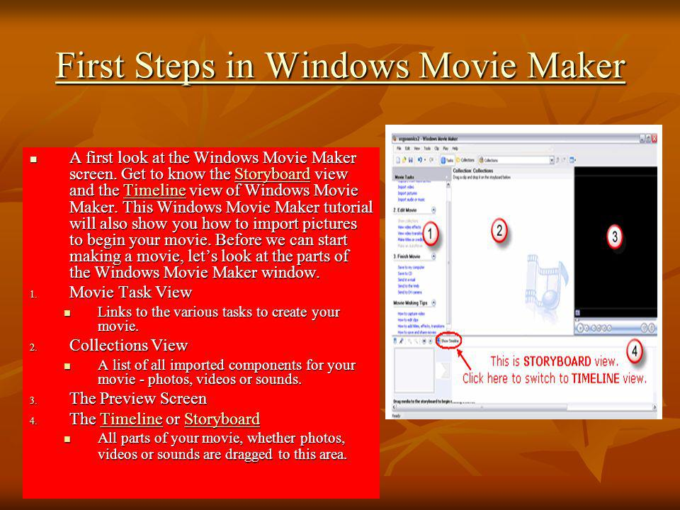 First Steps in Windows Movie Maker