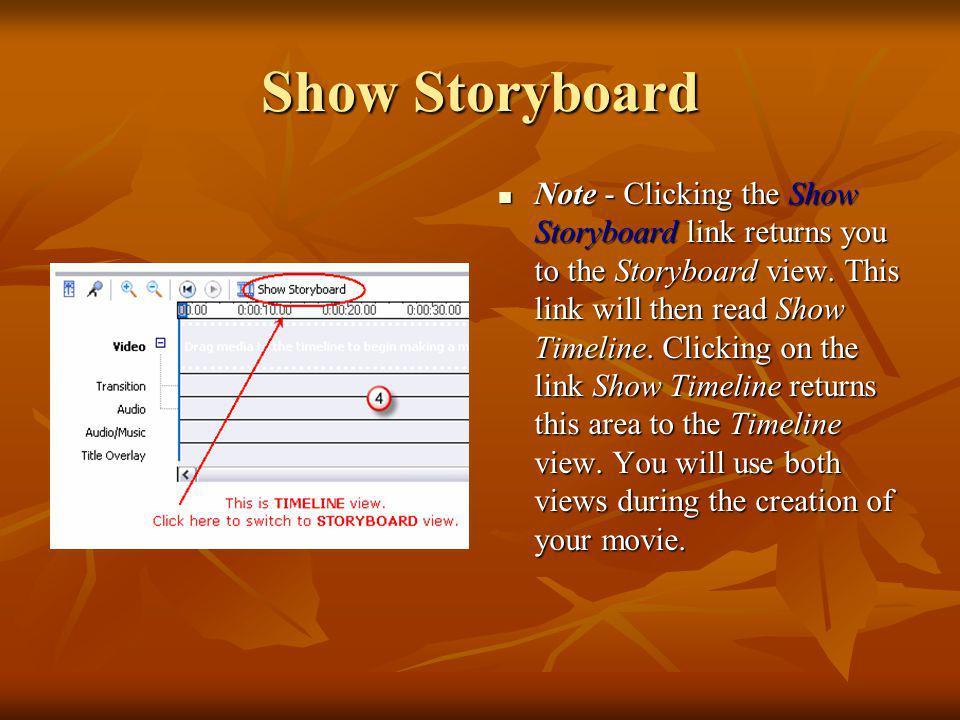 Show Storyboard