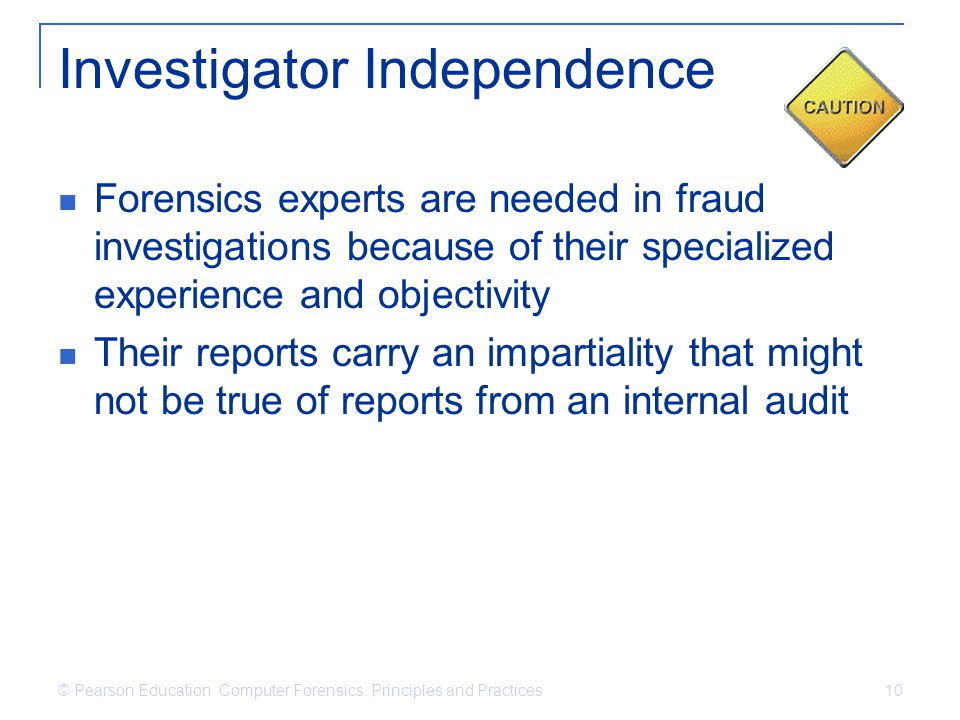 Investigator Independence