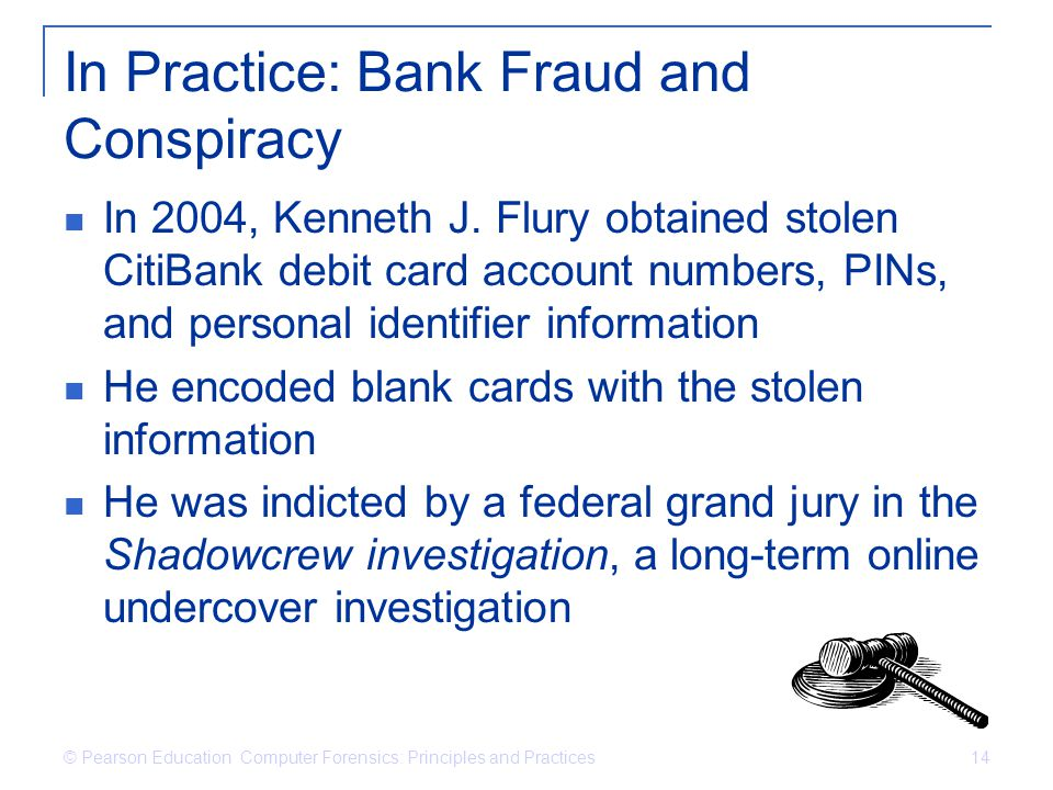 In Practice: Bank Fraud and Conspiracy