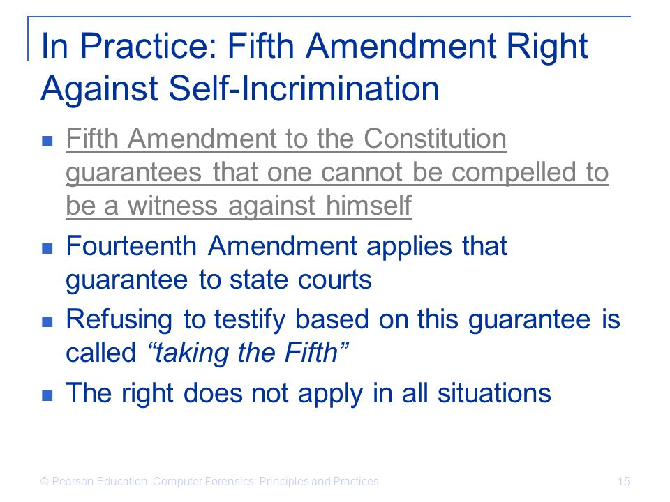 In Practice: Fifth Amendment Right Against Self-Incrimination