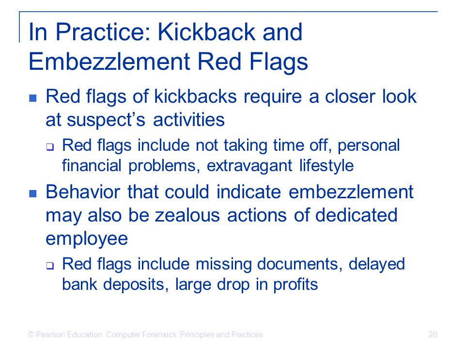 In Practice: Kickback and Embezzlement Red Flags