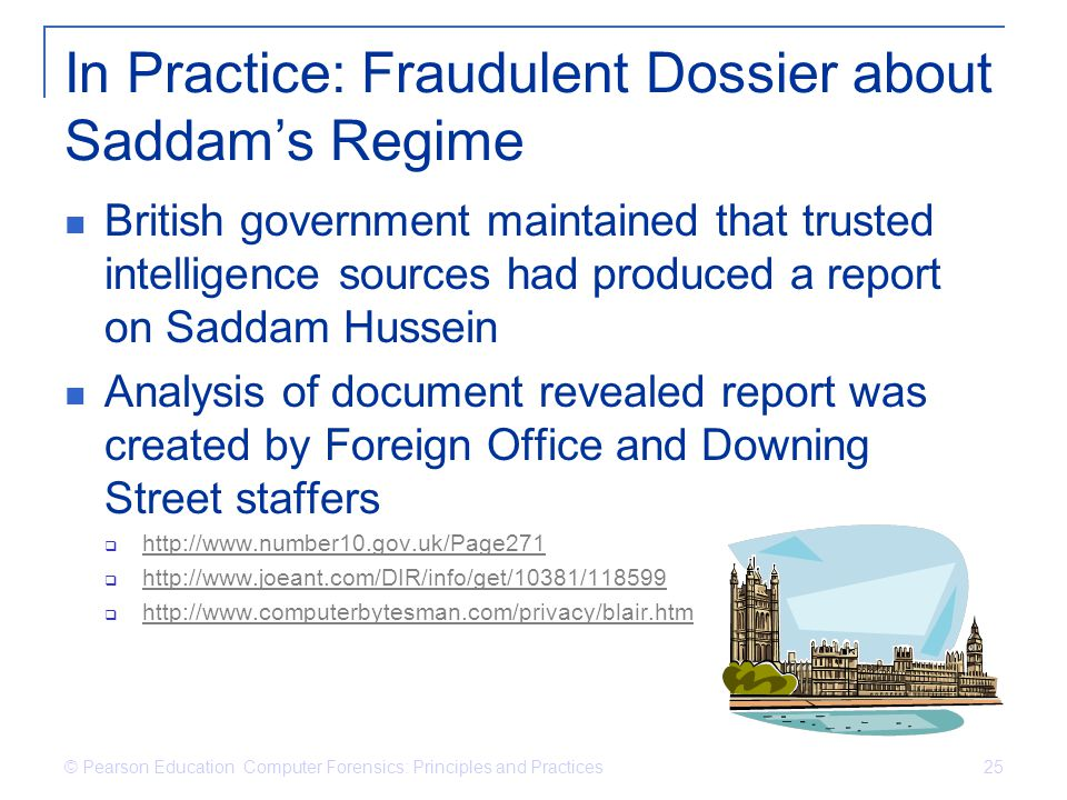 In Practice: Fraudulent Dossier about Saddam's Regime