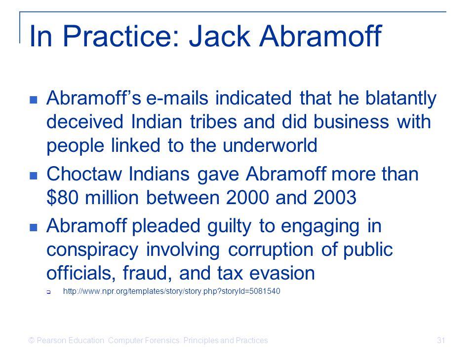 In Practice: Jack Abramoff