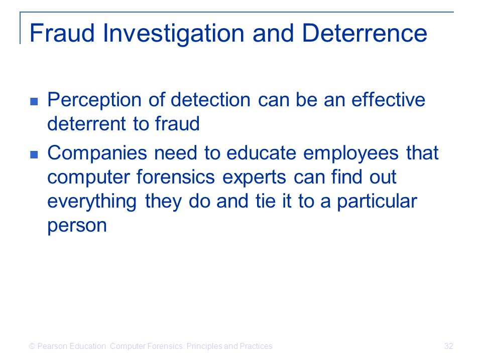 Fraud Investigation and Deterrence