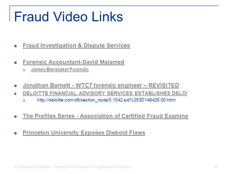 Fraud Video Links Fraud Investigation & Dispute Services