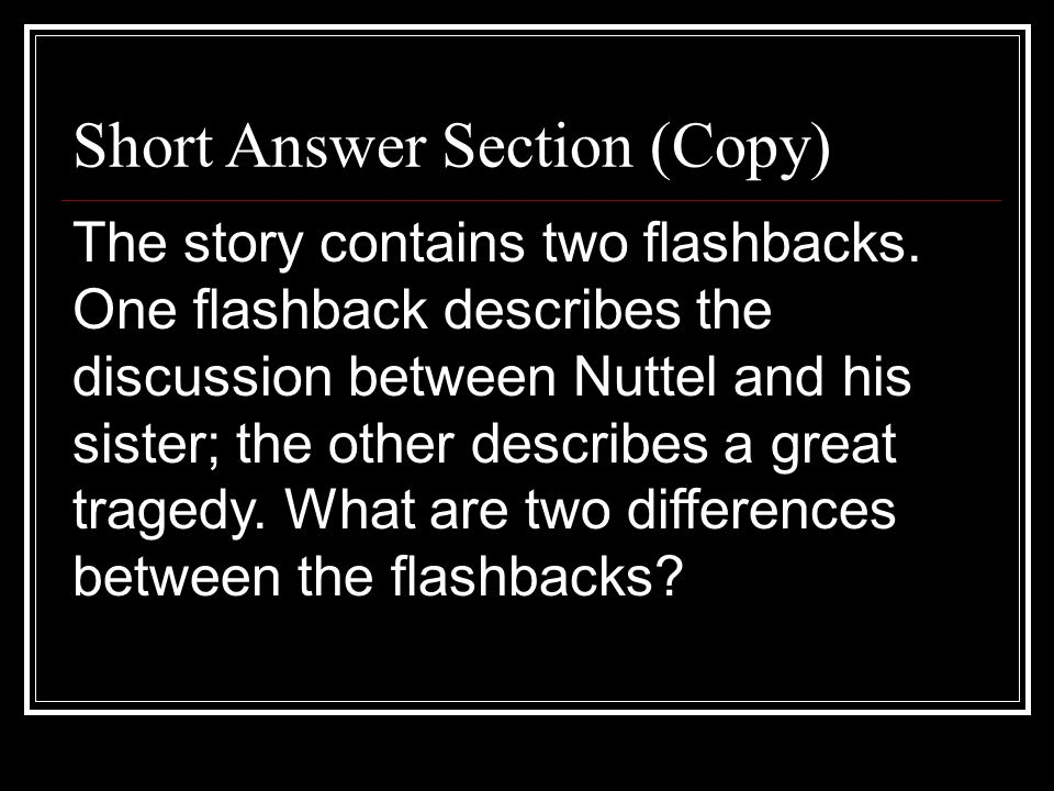 Short Answer Section (Copy)