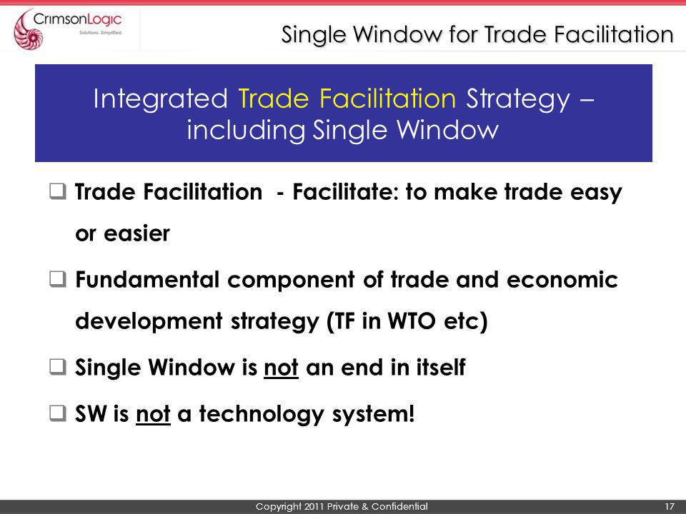 Single Window for Trade Facilitation