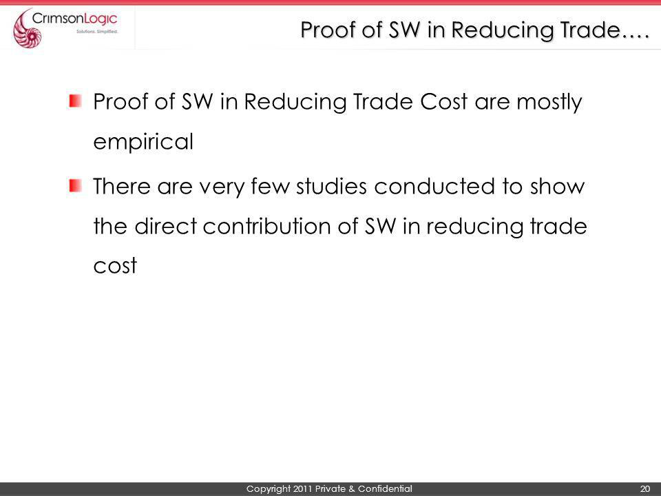 Proof of SW in Reducing Trade….