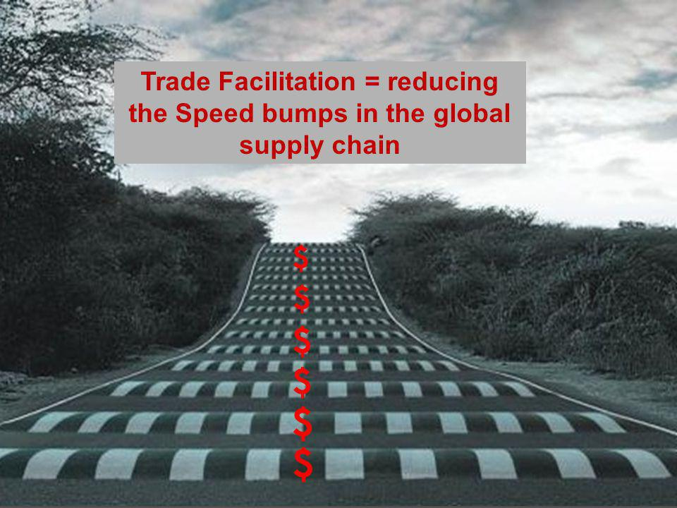 Trade Facilitation = reducing the Speed bumps in the global supply chain