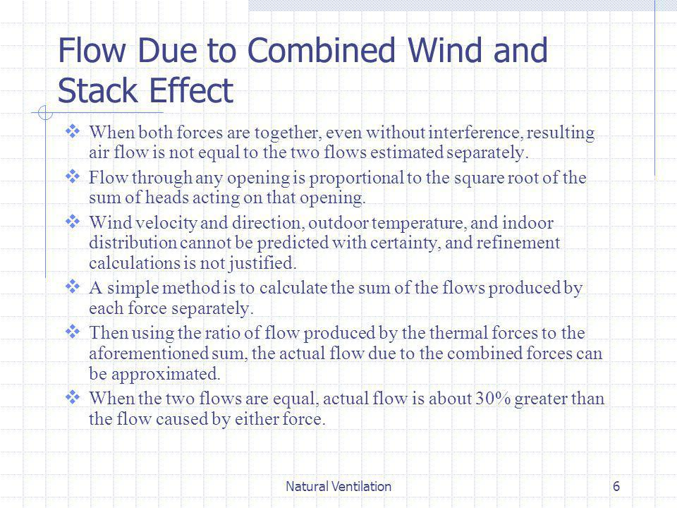 Flow Due to Combined Wind and Stack Effect