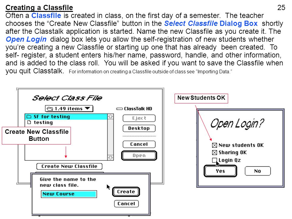 Creating a Classfile