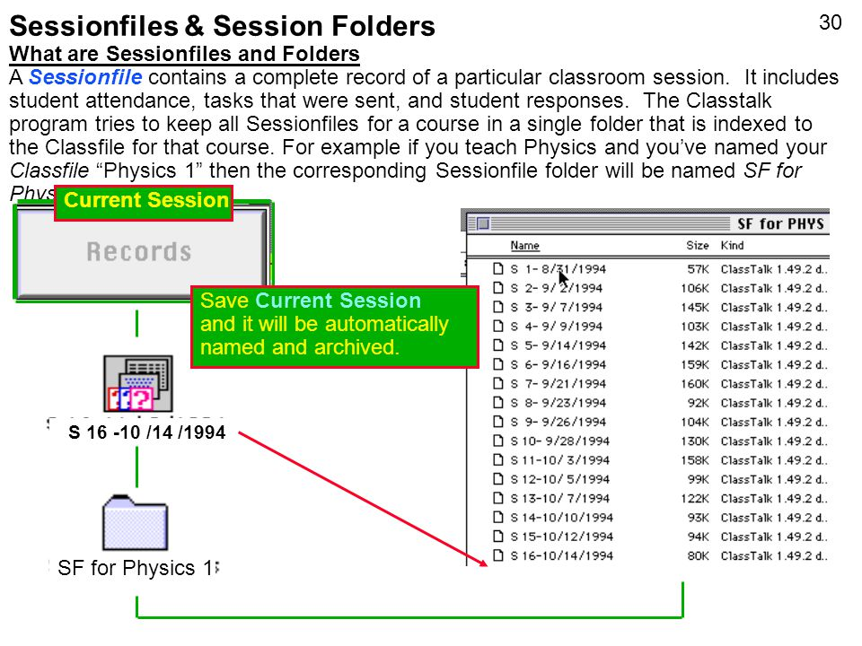 Sessionfiles & Session Folders