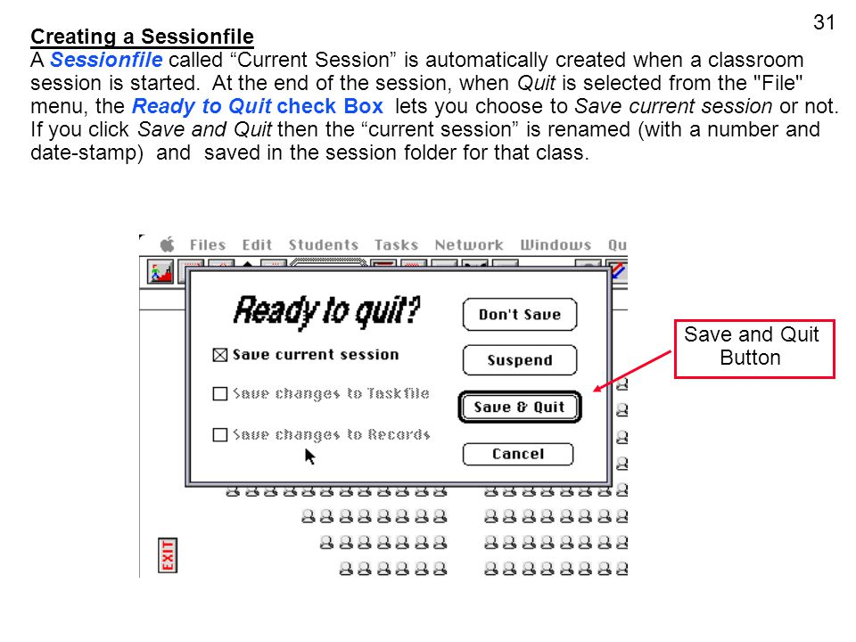 Creating a Sessionfile