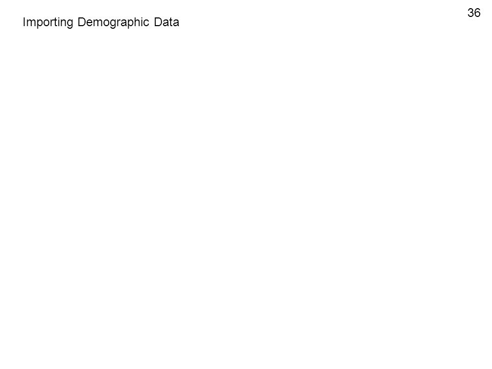 Importing Demographic Data