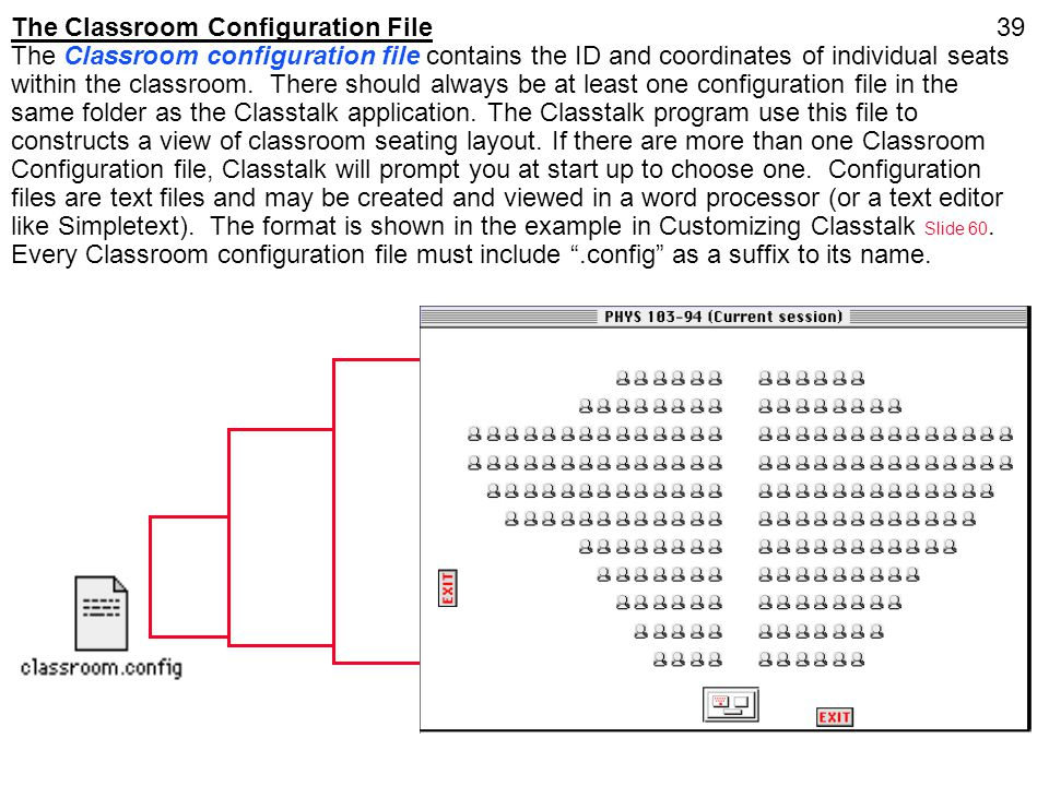 The Classroom Configuration File