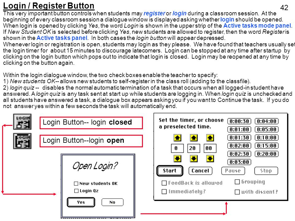 Login / Register Button
