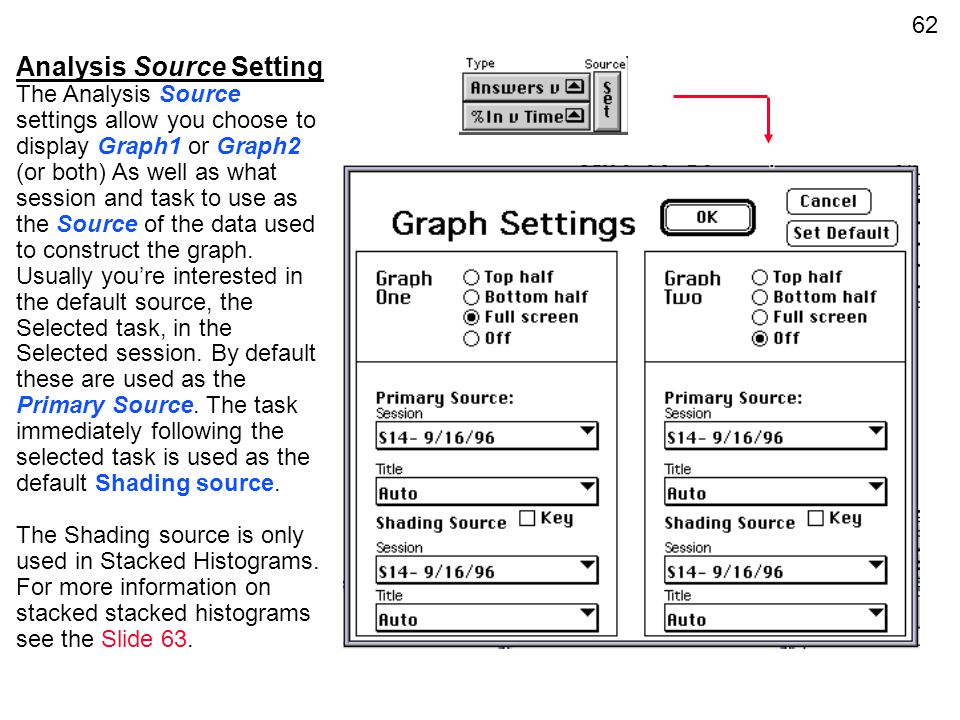 Analysis Source Setting