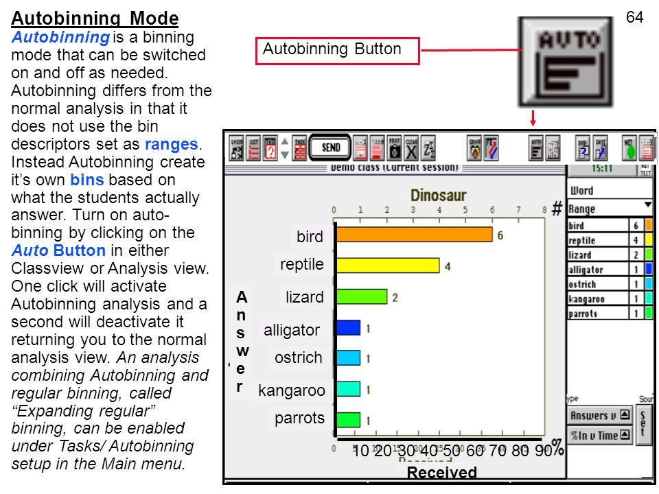 Autobinning Mode
