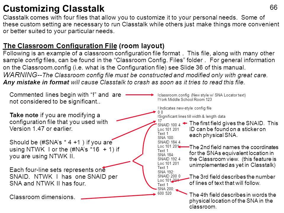 Customizing Classtalk